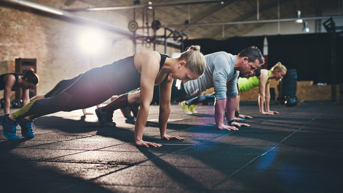 Barry's Bootcamp planks