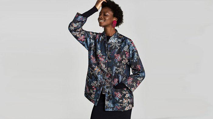 fall 2017 jackets Zara Jacquard Blazer
