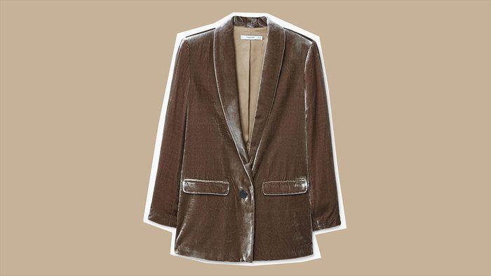 fall jackets 2017 Mango Velvet Blazer