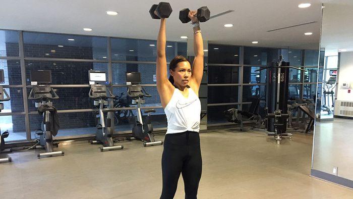 metabolism workout dumbbel push press