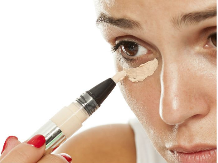 concealer properly Using too much product