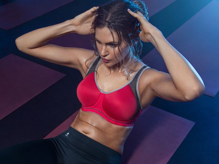 sports bra issues not enough support, frey active bra
