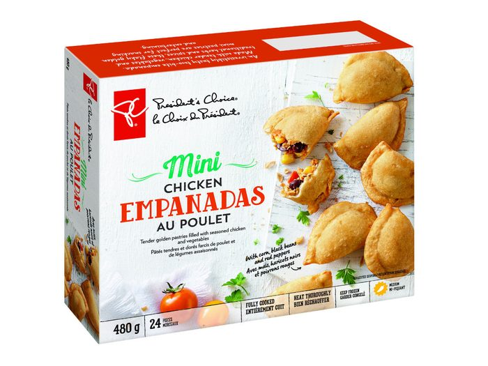 holiday foods PC chicken empanadas