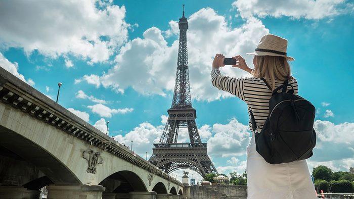 Travel Trends, woman in Paris