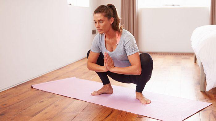 Yoga For Digestion, garland squat