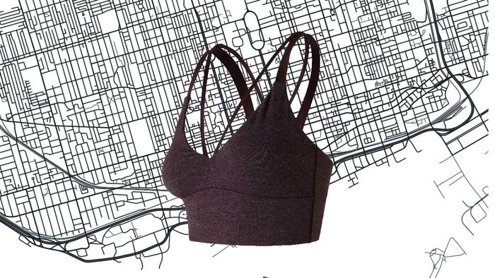athleisure for women New Balance Strappy Crop Top