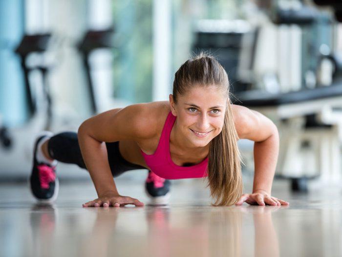 best arm exercises push up
