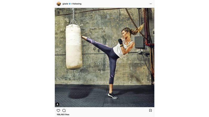 celebrity gym style gisele