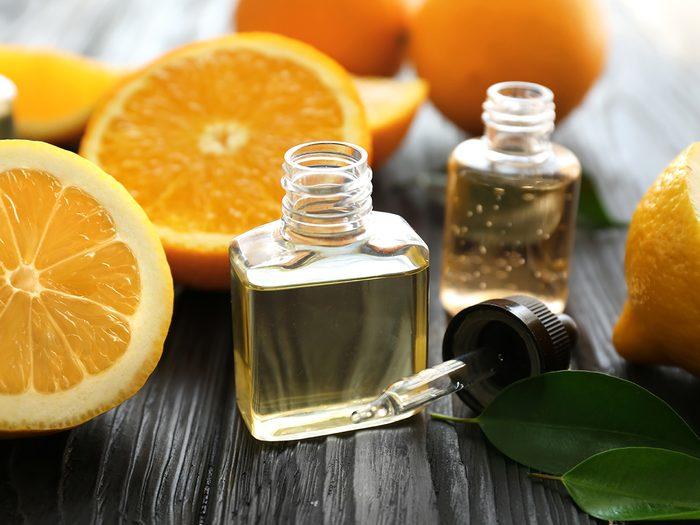 Blackheads, oranges and citrus oils