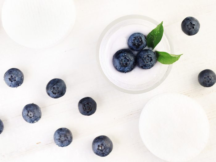 Skincare with blueberries in it