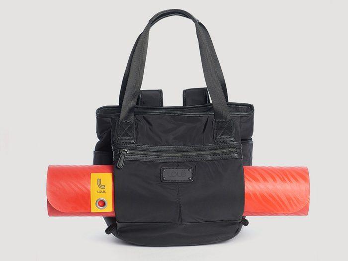 Workout gear, black Lole bag