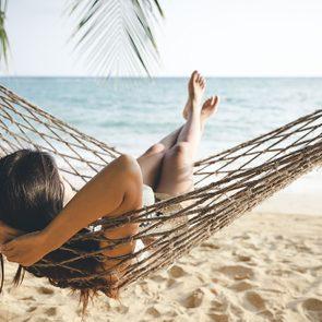 Laser Treatment, woman in hammock