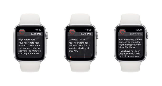 Apple Watch Series 4 Heart Rate Notifcations
