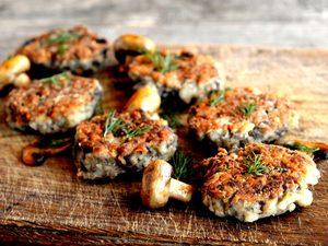 Knife and Fork Mushroom Burger