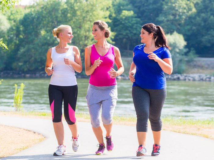 group of women running together