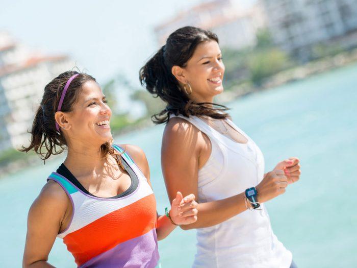 female running friends