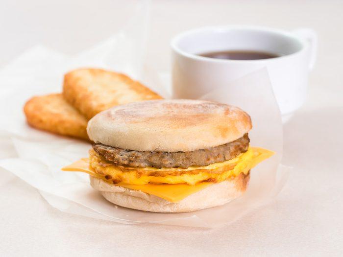 worst fast food sausage sandwich
