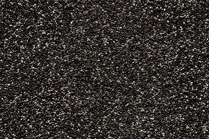 Pile of Superfood Chia Seeds