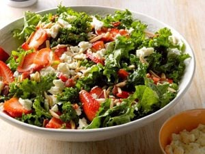 This Fresh, Zingy Strawberry Kale Salad Is Always a Crowd-Pleaser