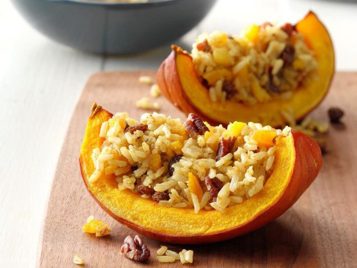 healthy thanksgiving recipes | baked pumpkin