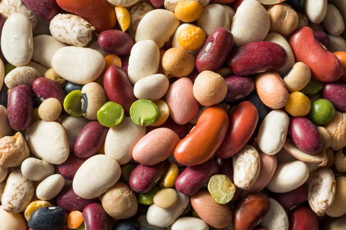 Dry Organic Assorted Bean Mixture in a Bowl
