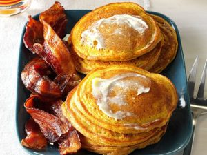 These Fluffy Pumpkin Pancakes Will Keep You Full For Hours