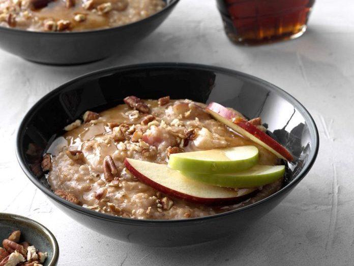 pressure-cooker apple pie steel-cut oatmeal