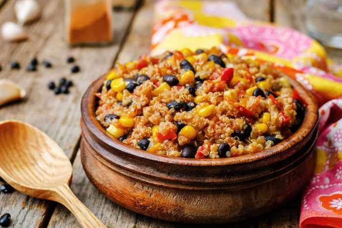 bowl of beans and grains