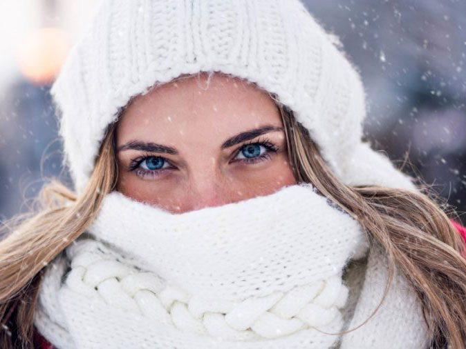 flu season - scarf on woman