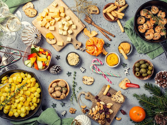 holiday party circuit binge overindulge