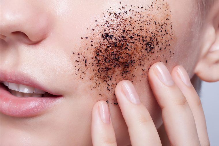 Skin care—exfoliation.   These skin care ingredients can cause breakouts.