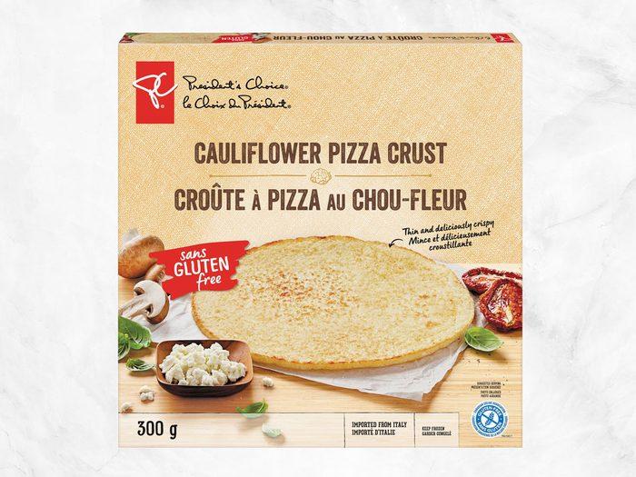president's choice plant-based staples cauliflower pizza crust