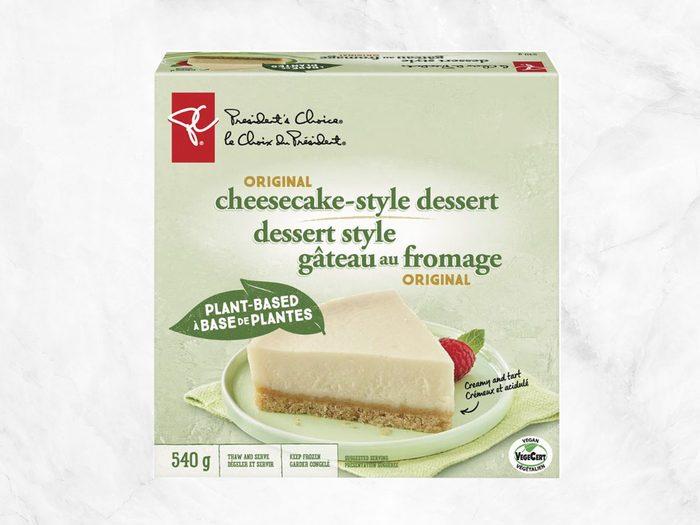 president's choice plant-based staples cheesecake-style dessert