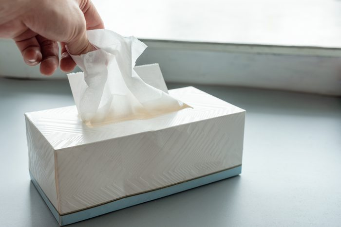 picking tissue out of tissue box