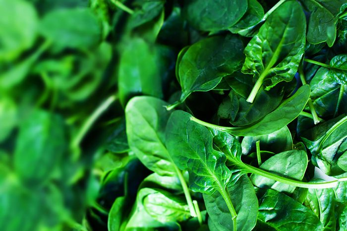 colourful foods   spinach