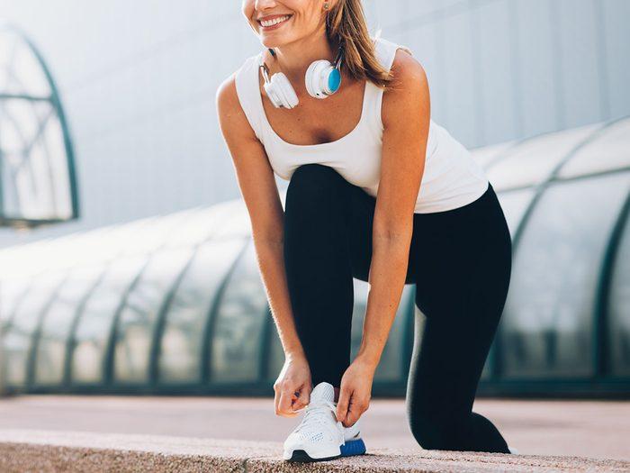 shin splints | Woman running