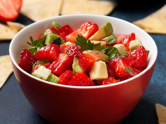 strawberry salsa | ginger salmon