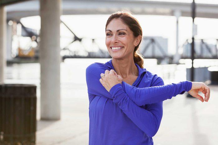 health myths gynecologists hear | woman stretching