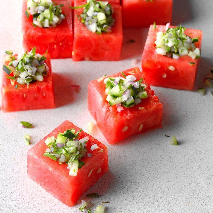 fridge-friendly recipes   watermelon cups