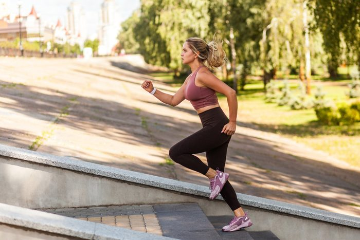 cause dehydration   woman exercising outside