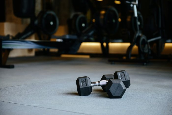 cause hemorrhoids   dumbbells which lying on the floor in gym