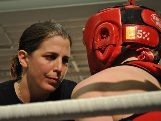 Toronto Newsgirls Boxing Club | two people boxing