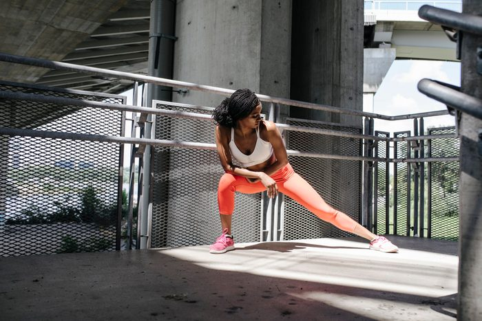 swollen feet | woman exercising outside