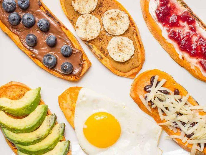 quick and easy breakfast ideas | healthy breakfast | sweet potato toast