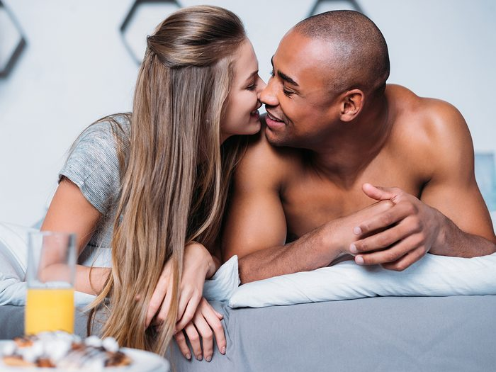 happy couple in bed   better sex
