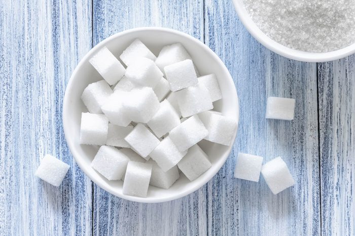 foods that lower your libido | a bowl of sugar cubes