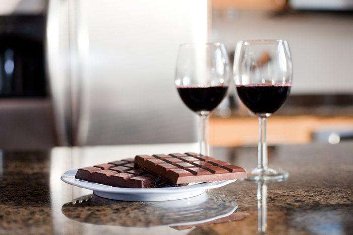 mediterranean diet | wine and chocolate