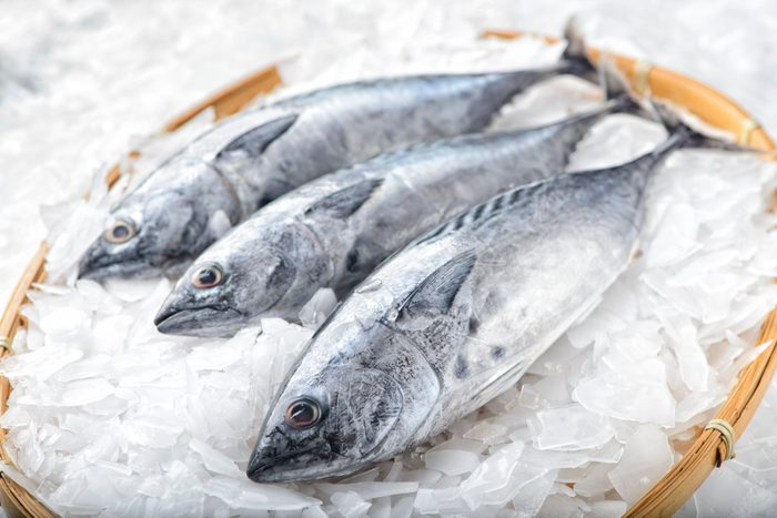 mediterranean diet | Three bonito tuna fish