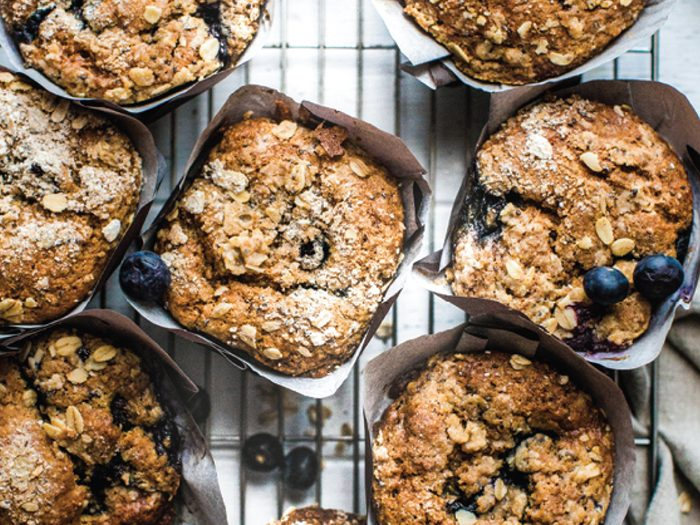 breakfast muffins | blueberry, banana, walnut