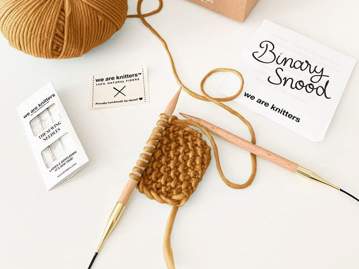 We Are Knitters knitting kit   wellness gifts   best health gift guide